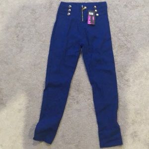 NWT Blue sizeL fits like Small! Fashion Pants